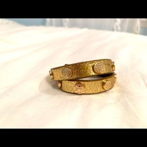 Tory Burch Gold Wrap Bracelet